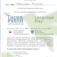 Seminarium metodyczne dla nauczycieli języka angielskiego Teacher Development Spring Conference Series