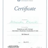 Cambridge University Press Conference, Warszawa, maj 2010