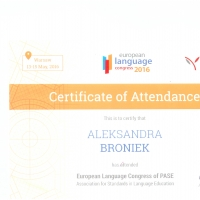 European Language Congress od PASE Association for Standards in Language Education