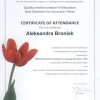 The 10th International Conference on Management in Language Education,Warszawa, 8-9 maj 2009